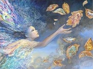 "Birthday Card ""Catching Wishes"" Birthday Greetings Card by Josephine Wall"